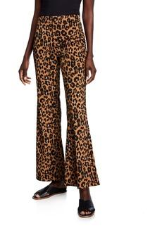 Bardot Leopard-Print Flare-Leg Pants