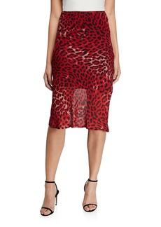 Bardot Leopard-Print Slip Skirt