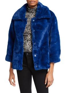 Bardot Pia Faux-Fur Bomber Jacket