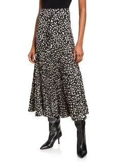 Bardot Pleated Belted Maxi Skirt