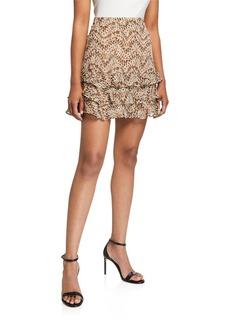 Bardot Rah Rah Tiered Ruffle Mini Skirt