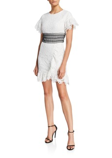 Bardot Reese Crochet Lace A Line Dress