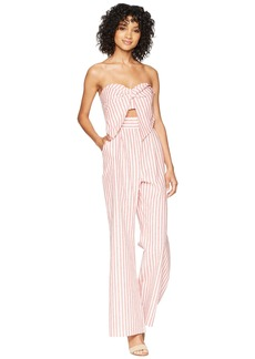 2d93659cca9 Bardot Lulu Sleeveless Cutout Wide-Leg Striped Jumpsuit