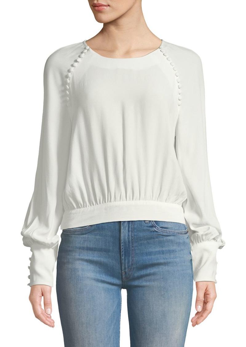 54810a2ec98 Bardot Tie-Back Button Long-Sleeve Blouse | Casual Shirts