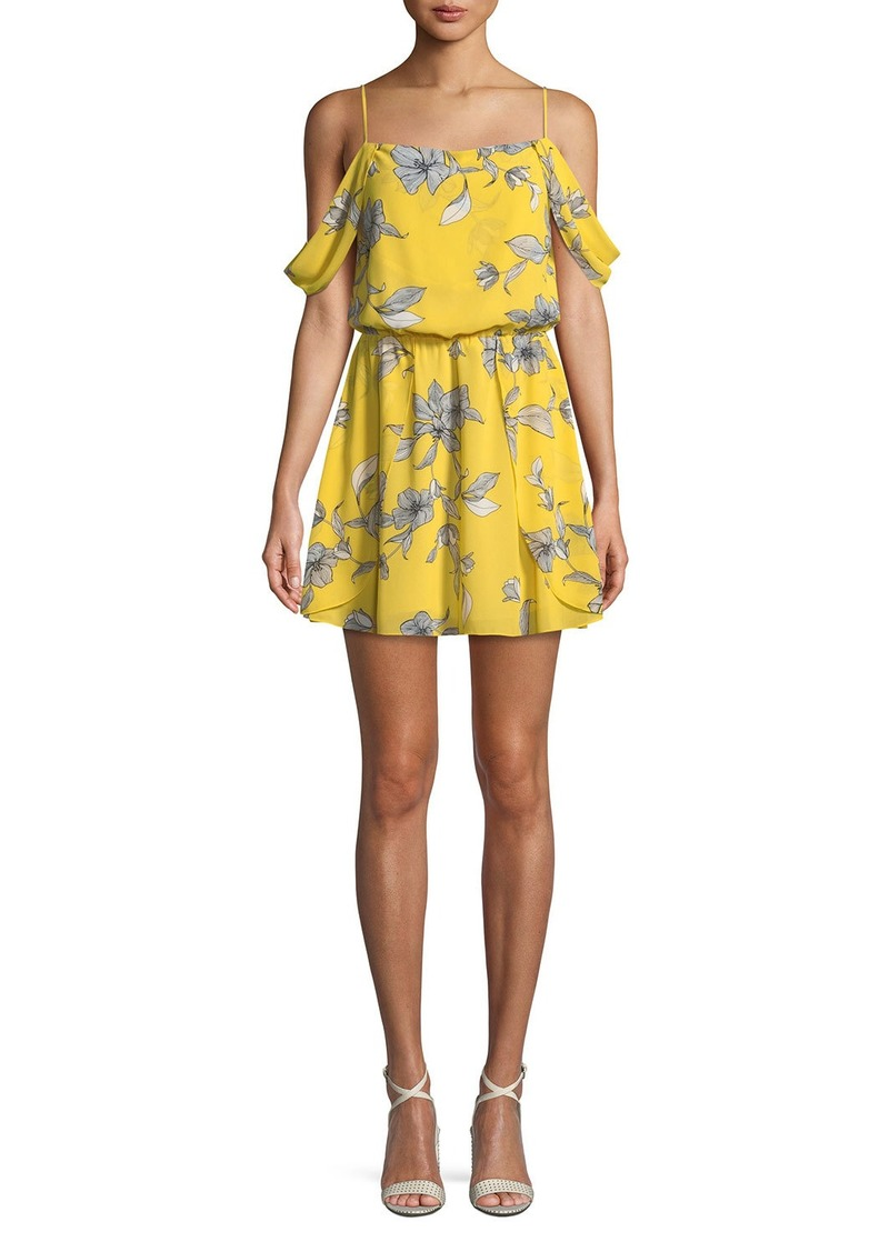 63f973588a70c Bardot Venice-Print Sleeveless Blouson-Top Mini Dress Now $53.00