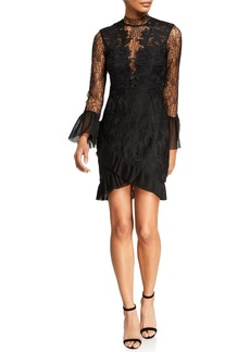Bardot Wistonia High-Neck Lace Cocktail Dress