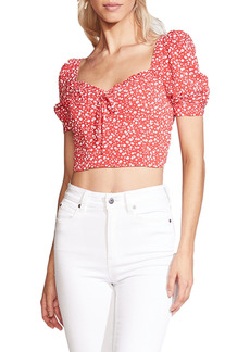Women's Bardot Ditsy Floral Crop Top