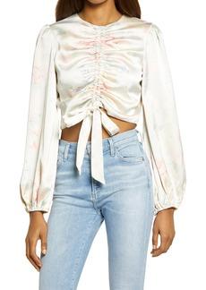 Women's Bardot Dulci Floral Long Sleeve Crop Top