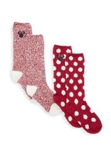 Barefoot Dreams 2-Piece Cozychic Disney Minnie Mouse Socks Set