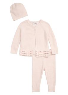 Barefoot Dreams® CozyChic™ Lite Heirloom Cardigan, Pants & Beanie Set (Baby)