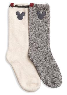 Barefoot Dreams Classic Disney Mickey Little Kid's 2-Pair Socks