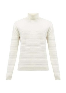 Barena Venezia Ami roll-neck ribbed wool sweater