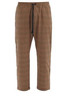 Barena Venezia Bativoga checked wool-blend trousers