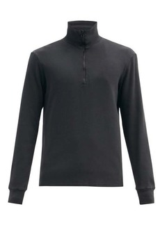 Barena Venezia Calenda half-zip cotton-jersey sweatshirt