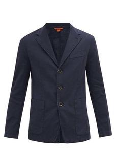 Barena Venezia Garment-dyed linen-blend twill blazer