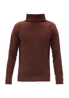 Barena Venezia High-neck waffle-knit wool sweater