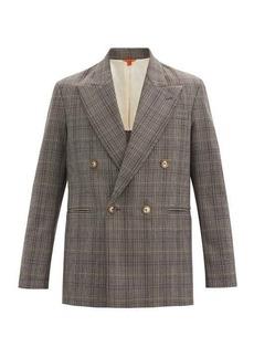 Barena Venezia Macuba double-breasted checked virgin-wool jacket