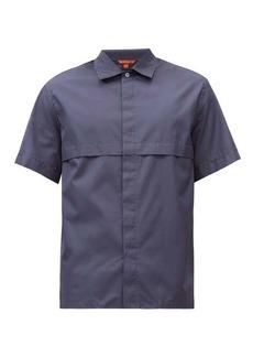 Barena Venezia Pintuck-fold cotton-poplin short-sleeved shirt