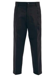 Barena Venezia Tartana cropped cotton-twill trousers