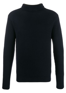 Barena contrast knit roll neck sweater