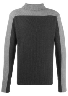 Barena contrast panel roll neck sweater