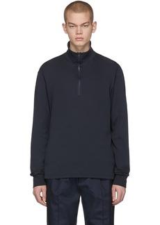 Barena Navy Calenda Zip Sweater
