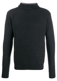 Barena ribbed two-tone jumper
