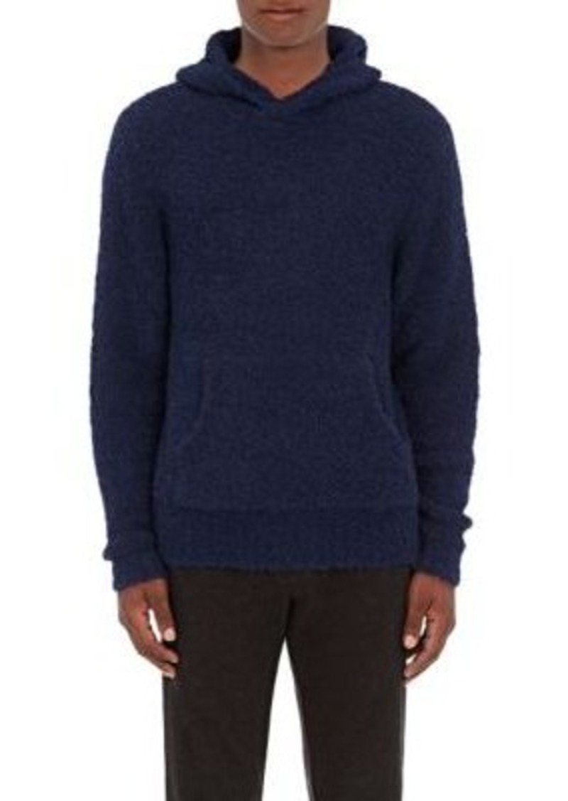 Barneys New York Men's Alpaca-Blend Hooded Sweater