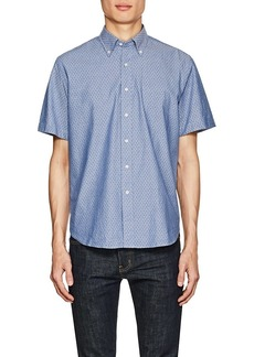 Barneys New York Men's Anchor-Print Cotton Oxford Shirt