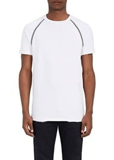 Mens Appliquéd Cotton-Blend T-Shirt Barneys New York