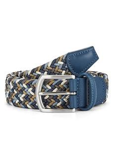 Barneys New York Men's Braided Stretch Belt