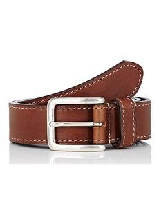 Barneys New York Men's Burnished Leather Belt