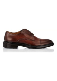 Barneys New York Men's Burnished Leather Cap-Toe Bluchers
