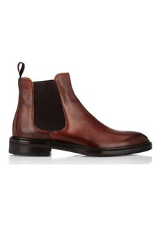 Barneys New York Men's Burnished Leather Chelsea Boots