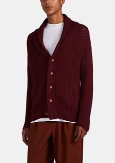 Barneys New York Men's Cable-Knit Alpaca-Cotton Cardigan