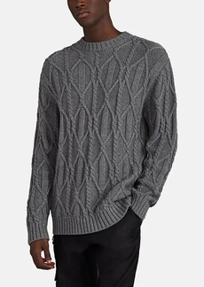 Barneys New York Men's Cable-Knit Cotton Sweater
