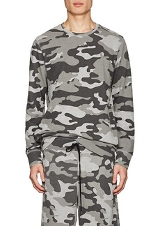 Barneys New York Men's Camouflage Terry Sweatshirt