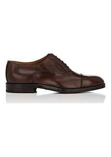Barneys New York Men's Cap-Toe Burnished Leather Balmorals