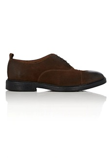 Barneys New York Men's Cap-Toe Oiled Suede Balmorals