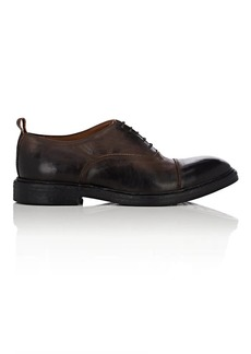 Barneys New York Men's Cap-Toe Washed Leather Balmorals