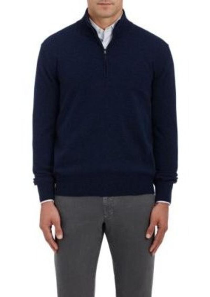Barneys New York Men's Cashmere Half-Zip Sweater