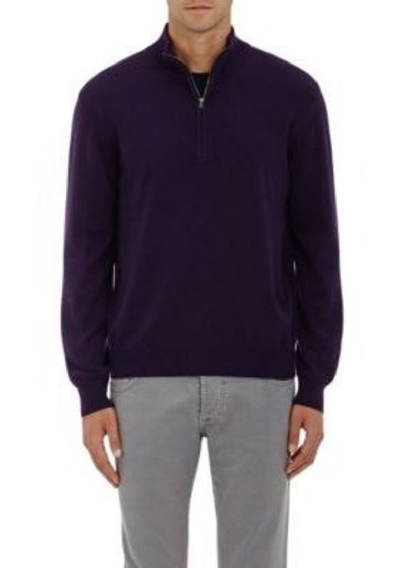 Barneys New York Men's Cashmere Half-Zip Sweater