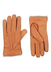 Barneys New York Men's Cashmere-Lined Deerskin Gloves
