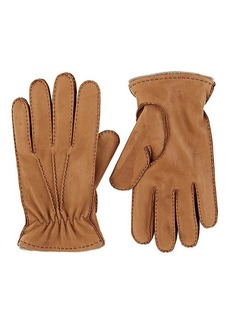 Barneys New York Men's Cashmere-Lined Leather Gloves