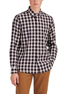 Barneys New York Men's Checked Cotton Shirt