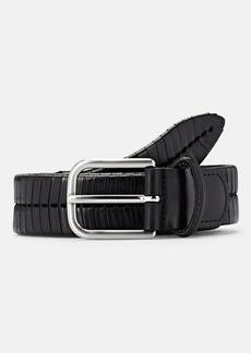 Barneys New York Men's Chevron-Weave Leather Belt