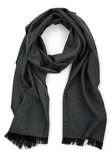 Barneys New York Men's Chevron Wool Scarf - Black