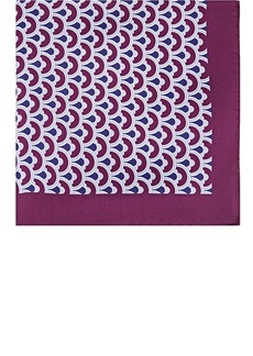 Barneys New York Men's Circle-Print Silk Pocket Square - Purple