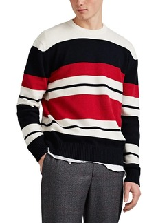 Barneys New York Men's Colorblocked Cotton-Blend Sweater