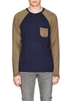 Barneys New York Men's Colorblocked Jersey Baseball T-Shirt